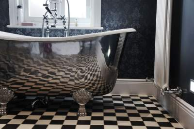 Black & White Tiled Bathroom, Traditional Bathroom